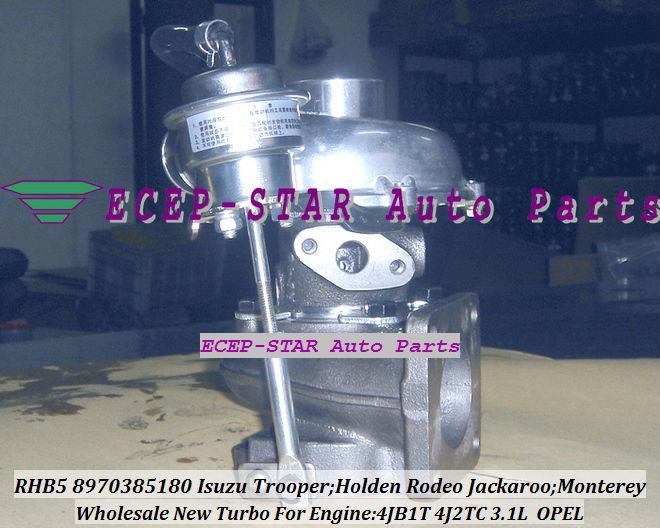 RHB5 8970385180 8970385181 turbo turbocharger Fit For ISUZU HOLDEN Trooper 4JB1T 3.1L (3)