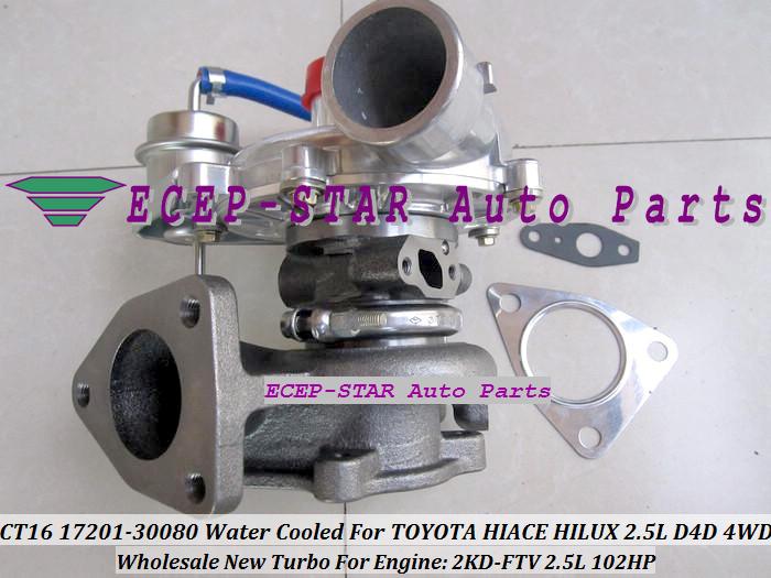 -CT16 17201-30080 1720130080 Turbocharger Turbo For Toyota Hiace Hilux 2.5L D4D 4WD 2KD-FTV 102HP (1)