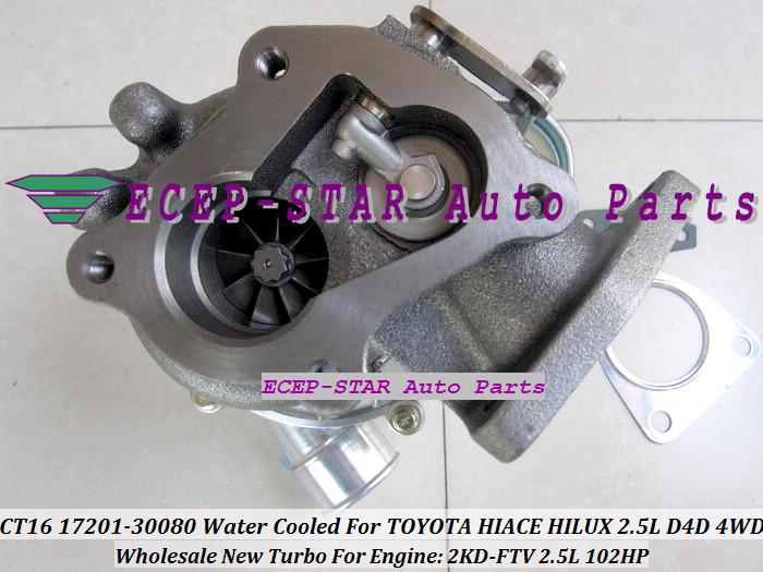 CT16 17201-30080 1720130080 Turbocharger Turbo For Toyota Hiace Hilux 2.5L D4D 4WD 2KD-FTV 102HP (5)