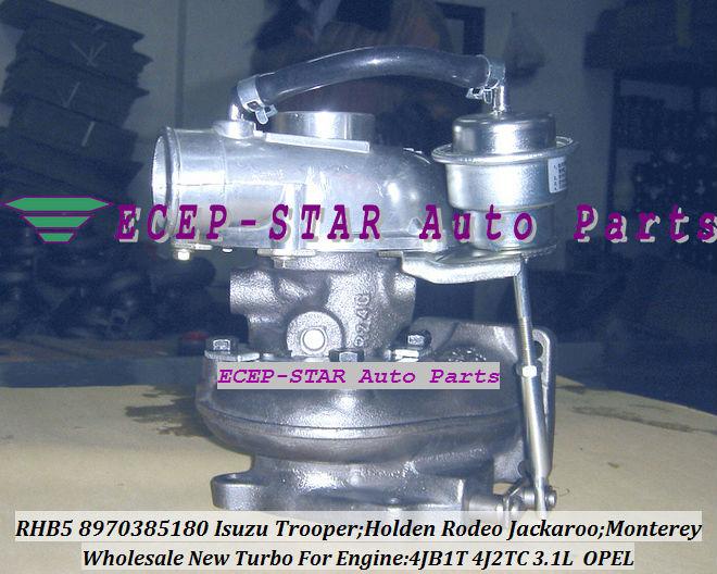 RHB5 8970385180 8970385181 turbo turbocharger Fit For ISUZU HOLDEN Trooper 4JB1T 3.1L (1)