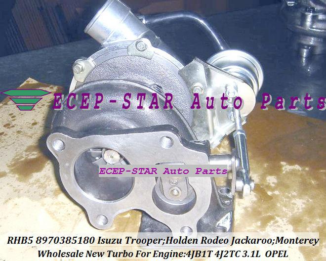 RHB5 8970385180 8970385181 turbo turbocharger Fit For ISUZU HOLDEN Trooper 4JB1T 3.1L (4)
