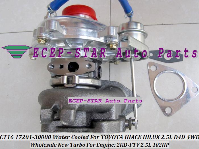 CT16 17201-30080 1720130080 Turbocharger Turbo For Toyota Hiace Hilux 2.5L D4D 4WD 2KD-FTV 102HP (3)