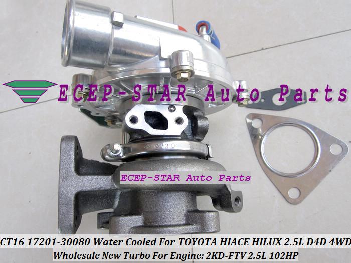 CT16 17201-30080 1720130080 Turbocharger Turbo For Toyota Hiace Hilux 2.5L D4D 4WD 2KD-FTV 102HP (4)
