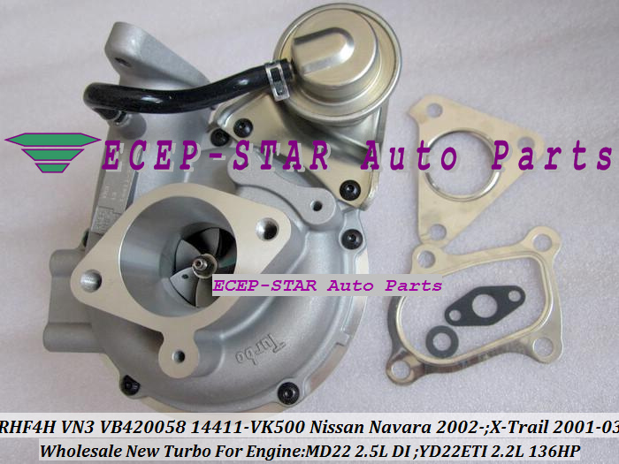 RHF4H VN3 VB420058 14411-VK500 TURBO Turbocharger For NISSAN Navara 2.5DI X-Trail MD22 2.5L YD22ETI 2.2L 136HP (2)