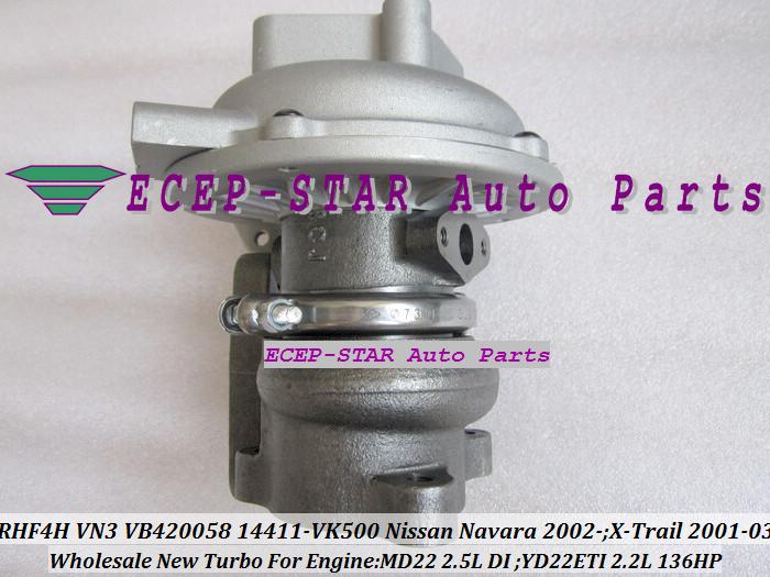 RHF4H VN3 VB420058 14411-VK500 TURBO Turbocharger For NISSAN Navara 2.5DI X-Trail MD22 2.5L YD22ETI 2.2L 136HP (7)