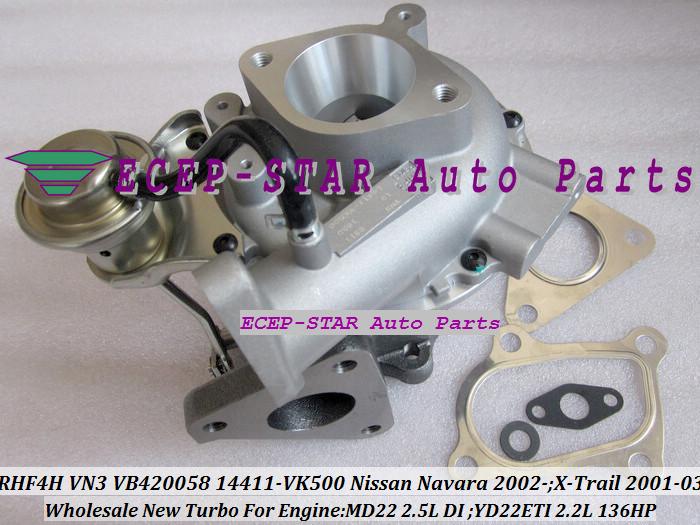 RHF4H VN3 VB420058 14411-VK500 TURBO Turbocharger For NISSAN Navara 2.5DI X-Trail MD22 2.5L YD22ETI 2.2L 136HP (3)