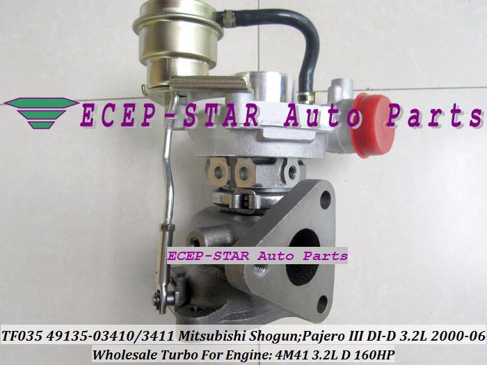 TF035 49135-03411 49135-03410 ME203949 ME191474 Turbo Turbocharger For Mitsubishi Shogun Pajero III 2000- 4M41 3.2L D 160HP (3)