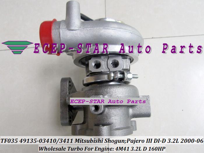 TF035 49135-03411 49135-03410 ME203949 ME191474 Turbo Turbocharger For Mitsubishi Shogun Pajero III 2000- 4M41 3.2L D 160HP (5)