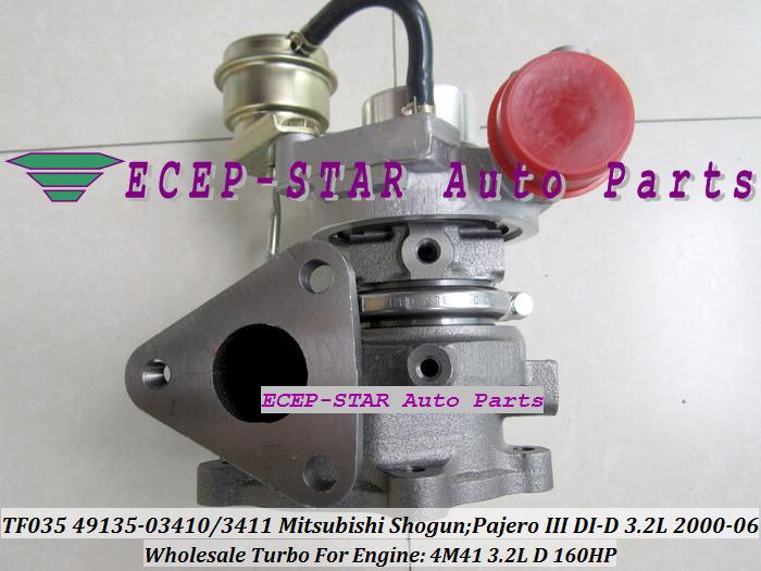 TF035 49135-03411 49135-03410 ME203949 ME191474 Turbo Turbocharger For Mitsubishi Shogun Pajero III 2000- 4M41 3.2L D 160HP (2)
