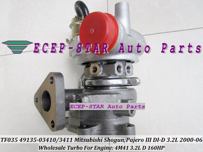 TF035 49135-03411 49135-03410 ME203949 ME191474 Turbo Turbocharger For Mitsubishi Shogun Pajero III 2000- 4M41 3.2L D 160HP (1)