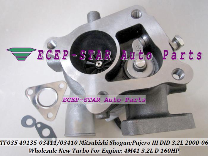 -TF035 49135-03411 49135-03410 ME203949 ME191474 Turbo Turbocharger For Mitsubishi Shogun Pajero III 2000- 4M41 3.2L D 160HP