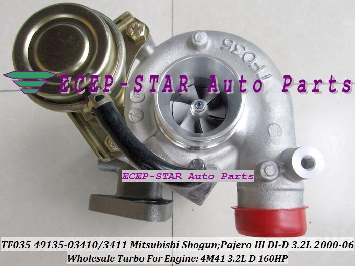 TF035 49135-03411 49135-03410 ME203949 ME191474 Turbo Turbocharger For Mitsubishi Shogun Pajero III 2000- 4M41 3.2L D 160HP