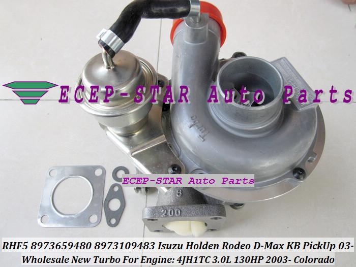RHF5 8973659480 8973109483 Turbine Turbo Turbocharger For ISUZU Holden Rodeo D-Max KB PickUp 2003- Colorado 4JH1TC 3.0L 130HP (5)
