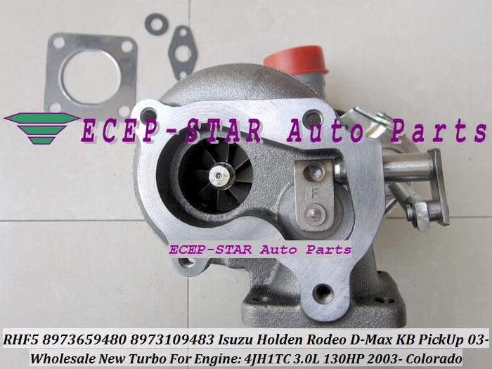 RHF5 8973659480 8973109483 Turbine Turbo Turbocharger For ISUZU Holden Rodeo D-Max KB PickUp 2003- Colorado 4JH1TC 3.0L 130HP (1)
