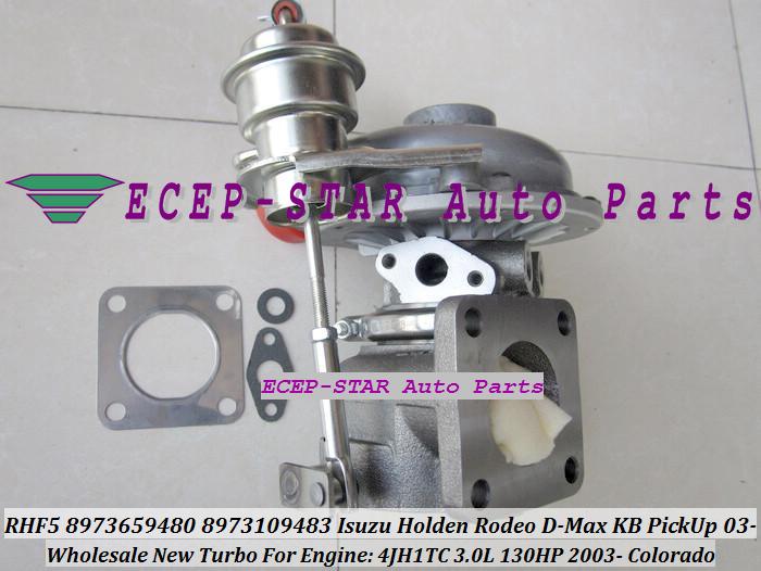 RHF5 8973659480 8973109483 Turbine Turbo Turbocharger For ISUZU Holden Rodeo D-Max KB PickUp 2003- Colorado 4JH1TC 3.0L 130HP (3)