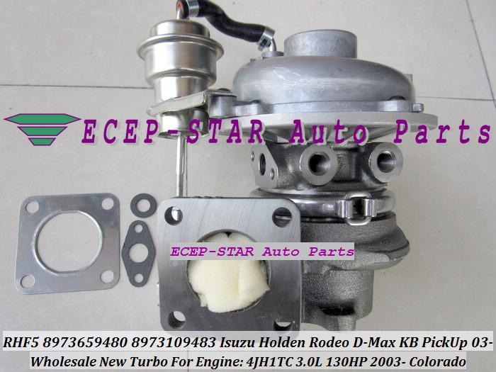 RHF5 8973659480 8973109483 Turbine Turbo Turbocharger For ISUZU Holden Rodeo D-Max KB PickUp 2003- Colorado 4JH1TC 3.0L 130HP (2)