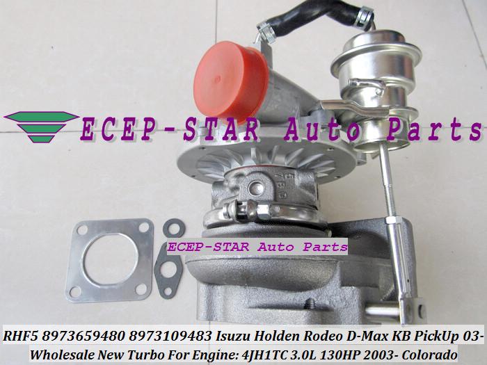 RHF5 8973659480 8973109483 Turbine Turbo Turbocharger For ISUZU Holden Rodeo D-Max KB PickUp 2003- Colorado 4JH1TC 3.0L 130HP (4)