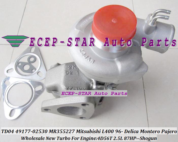 TD04-10T-4 TD04 49177-02530 49177-02531 MD168053 MR355227 Mitsubishi L400 1996- DELICA MONTERO PAJERO SHOGUN 4D56 2.5L 87HP -) (4)