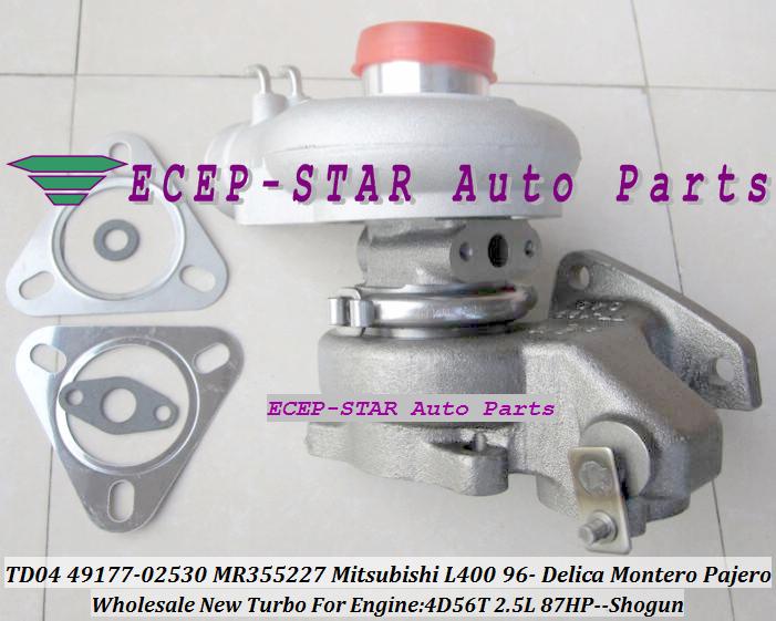 TD04-10T-4 TD04 49177-02530 49177-02531 MD168053 MR355227 Mitsubishi L400 1996- DELICA MONTERO PAJERO SHOGUN 4D56 2.5L 87HP -) (1)