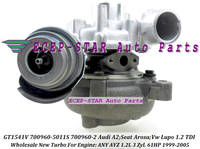 GT1541V 700960-5011S 700960 045145701E Turbocharger For Audi A2 Seat Arosa Volkswagen Lupo 1.2 TDI 1.2L ANY AYZ 3 Zyl. 61HP (2)