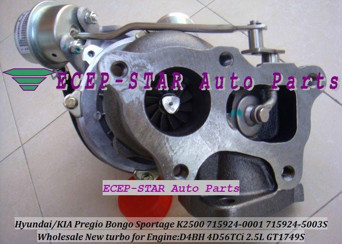 GT1749S 715924-0001 715924-5003S HYUNDAIKIA Pregio Bongo Sportage K2500 D4BH 4D56TCi 2.5L turbocharger (3)