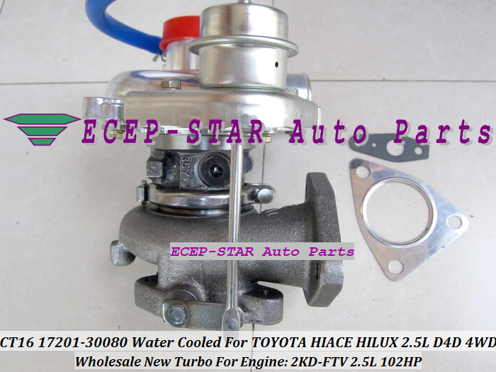CT16 17201-30080 1720130080 Turbocharger Turbo For Toyota Hiace Hilux 2.5L D4D 4WD 2KD-FTV 102HP (2)