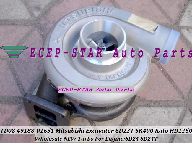 TURBO TD08-26M 49188-01281 49188-01651 49188-01285 ME158162 ME150485 Mitsubishi Excavator SK400 Kato HD1250 Engine 6D24 6D24T (3)