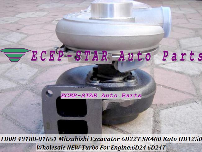 TURBO TD08-26M 49188-01281 49188-01651 49188-01285 ME158162 ME150485 Mitsubishi Excavator SK400 Kato HD1250 Engine 6D24 6D24T (1)