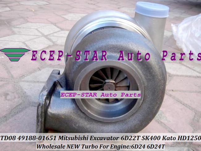 TURBO TD08-26M 49188-01281 49188-01651 49188-01285 ME158162 ME150485 Mitsubishi Excavator SK400 Kato HD1250 Engine 6D24 6D24T (2)