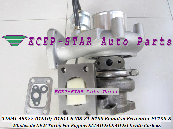 TD04L-10GKRC-5 TD04L 49377-01610 49377-01611 6208-81-8100 Turbo Turbocharger For Komatsu PC130-8 Excavator SAA4D95LE 4D95LE with Gaskets - (5)