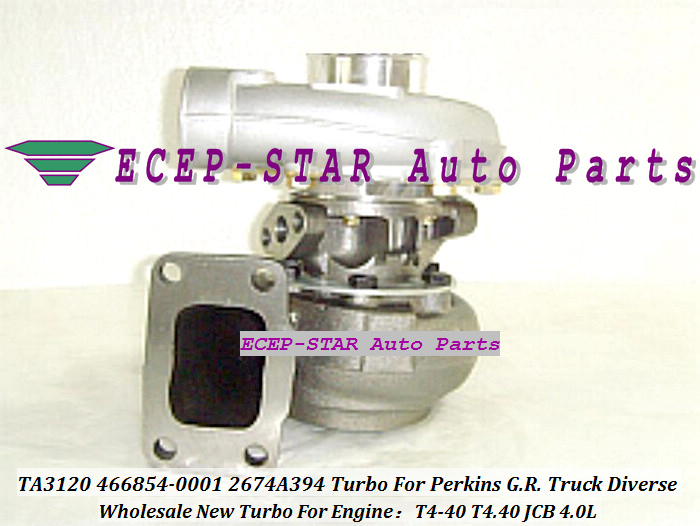 - TA3120 46TA3120 466854-0001 466854-5001S 466854 2674A394 Turbo Turbine Turbocharger For Perkins G.R. Truck 1988-01 Diverse T4-40 T4.40 JCB 4.0L (1)