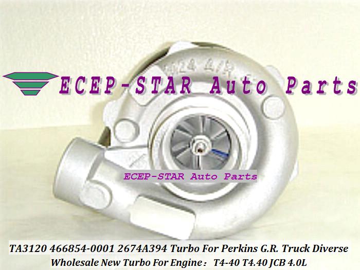 - TA3120 46TA3120 466854-0001 466854-5001S 466854 2674A394 Turbo Turbine Turbocharger For Perkins G.R. Truck 1988-01 Diverse T4-40 T4.40 JCB 4.0L (2)