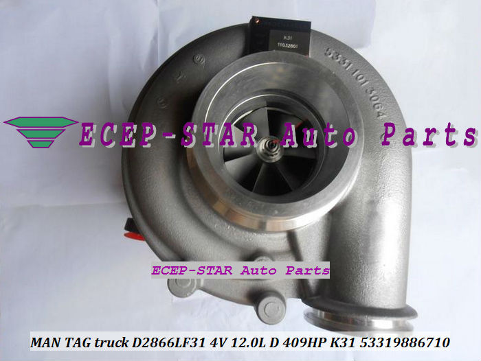 K31 53319706710 53319886710 MAN TAG truck D2866LF31 4V 12.0L D 409HP turbo turbocharger (1)
