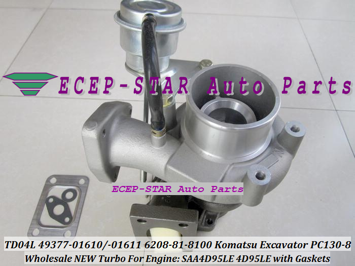 TD04L-10GKRC-5 TD04L 49377-01610 49377-01611 6208-81-8100 Turbo Turbocharger For Komatsu PC130-8 Excavator SAA4D95LE 4D95LE with Gaskets -