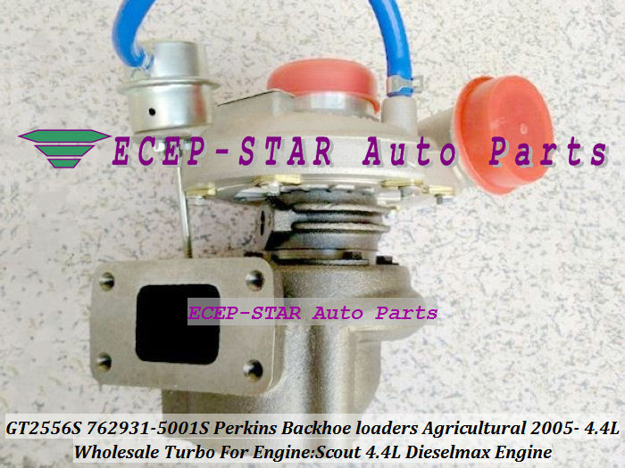 GT2556S 762931-0001 762931-5001S Turbo Turbocharger For Perkins Backhoe loaders 2005-06 with Scout 4.4L Dieselmax Engine (3)
