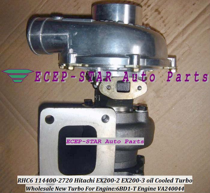 RHC6 114400-2720 VA240044 Hitachi EX200-2 EX200-3 oil Cooled Turbo 6BD1-T oil Cooled Turbocharger