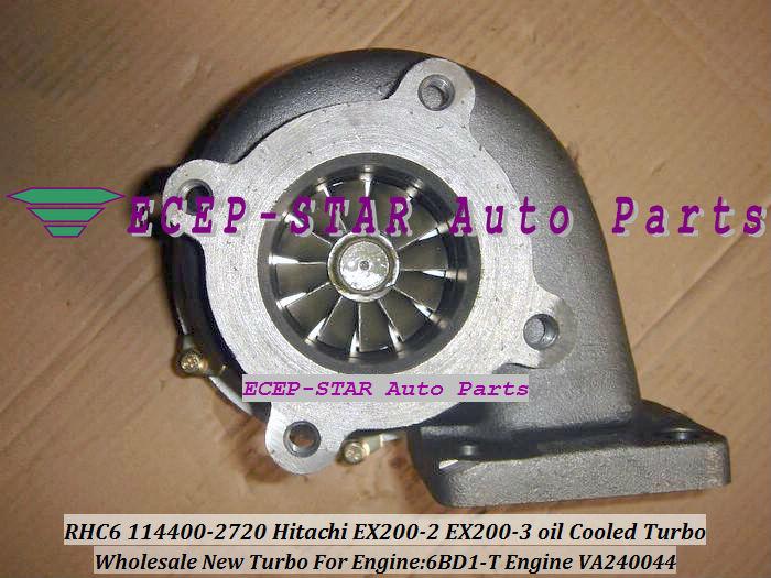 RHC6 114400-2720 VA240044 Hitachi EX200-2 EX200-3 oil Cooled Turbo 6BD1-T oil Cooled Turbocharger (2)