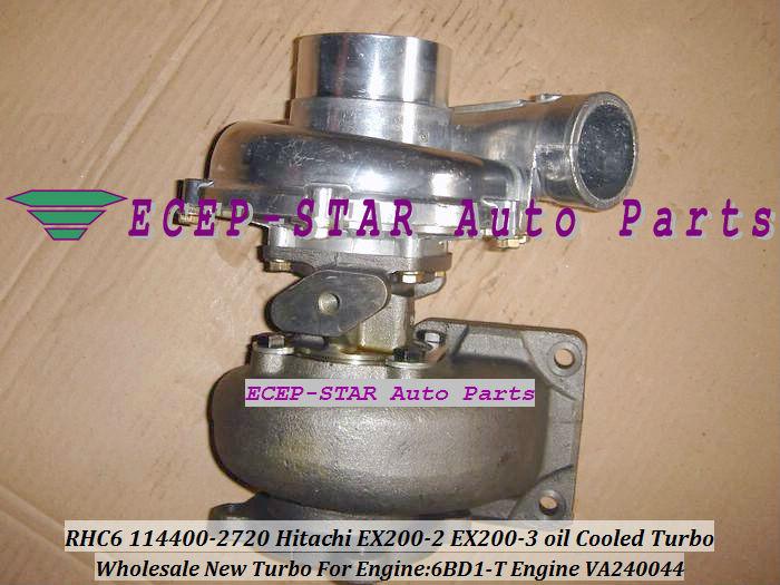 RHC6 114400-2720 VA240044 Hitachi EX200-2 EX200-3 oil Cooled Turbo 6BD1-T oil Cooled Turbocharger (3)