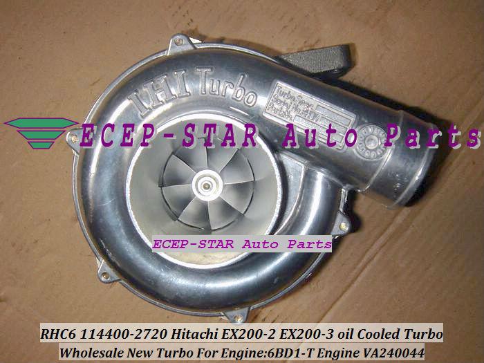 RHC6 114400-2720 VA240044 Hitachi EX200-2 EX200-3 oil Cooled Turbo 6BD1-T oil Cooled Turbocharger (1)