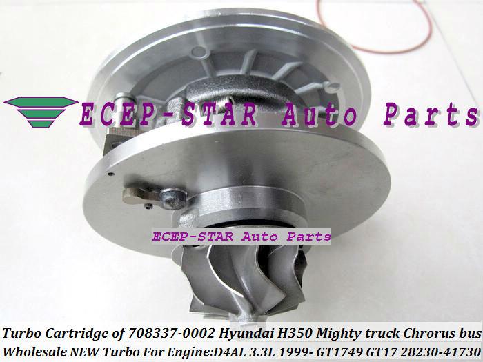 Turbo Cartridge CHRA of GT1749 GT17 28230-41730 708337-0002 FIt For KIA HYUNDAI H350 Mighty truck Chrorus bus 1999- D4AL 3.3L turbocharger (3)