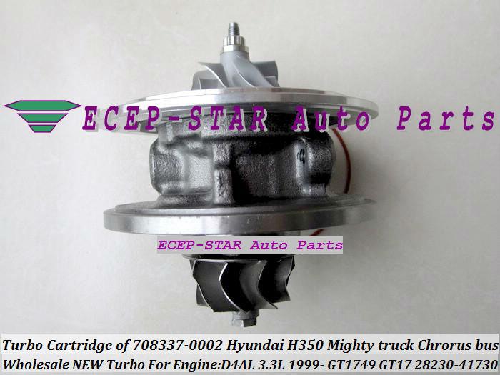 Turbo Cartridge CHRA of GT1749 GT17 28230-41730 708337-0002 FIt For KIA HYUNDAI H350 Mighty truck Chrorus bus 1999- D4AL 3.3L turbocharger (1)