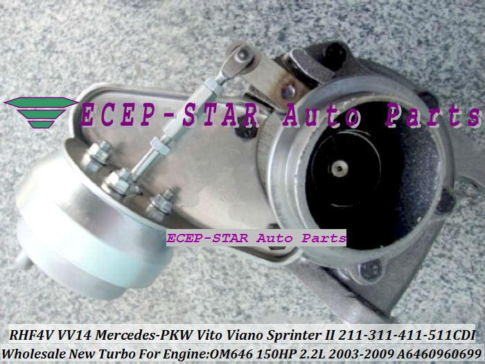 RHF4V VV14 A6460960699 Turbocharger for Mercedes-PKW Vito Viano SprinterII 211CDI 311CDI 411CDI 511CDI 2003-09 2.2L OM646 (1)