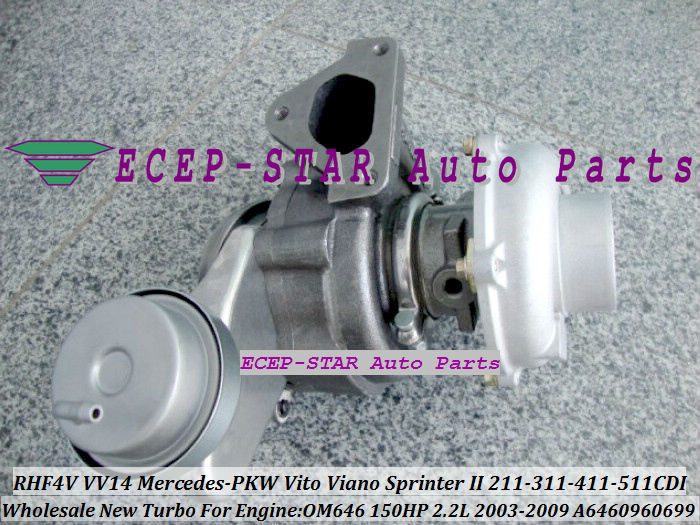 RHF4V VV14 A6460960699 Turbocharger for Mercedes-PKW Vito Viano SprinterII 211CDI 311CDI 411CDI 511CDI 2003-09 2.2L OM646 (2)