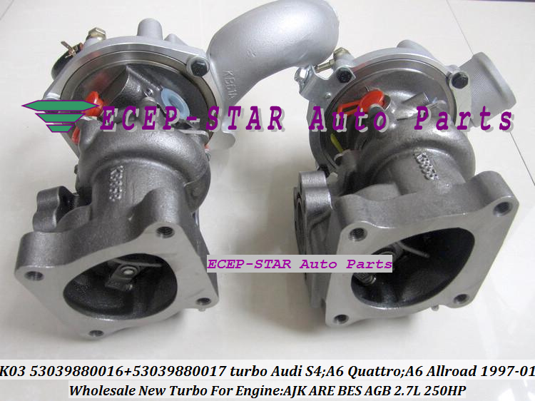 K03 53039880016 53039880017 Turbo Turbocharger for Audi S4 A6 Quattro A6 Allroad 1997-01 AJK ARE BES AGB 2.7L 250HP (6)