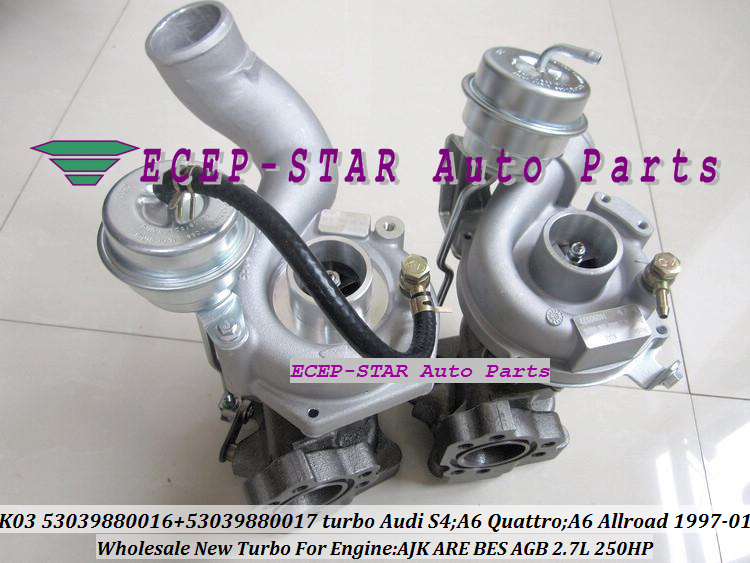 K03 53039880016 53039880017 Turbo Turbocharger for Audi S4 A6 Quattro A6 Allroad 1997-01 AJK ARE BES AGB 2.7L 250HP (7)