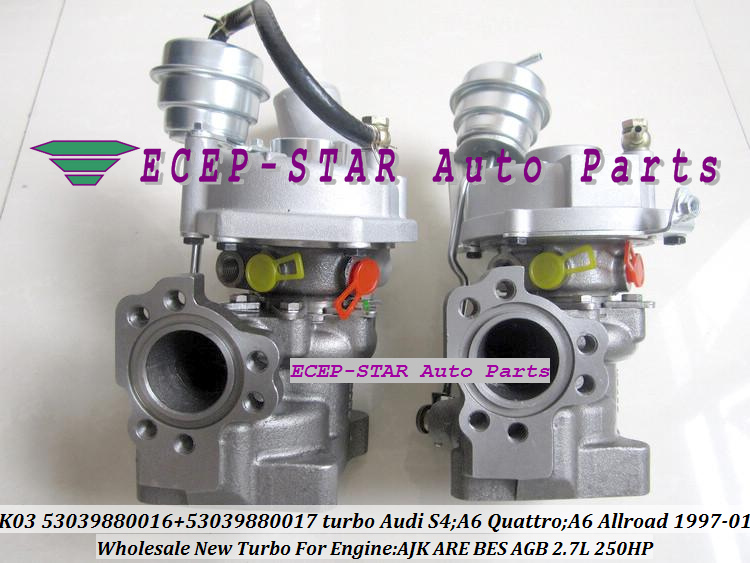 K03 53039880016 53039880017 Turbo Turbocharger for Audi S4 A6 Quattro A6 Allroad 1997-01 AJK ARE BES AGB 2.7L 250HP (3)