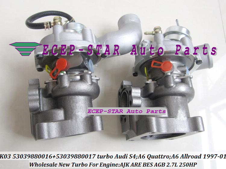 K03 53039880016 53039880017 Turbo Turbocharger for Audi S4 A6 Quattro A6 Allroad 1997-01 AJK ARE BES AGB 2.7L 250HP (2)
