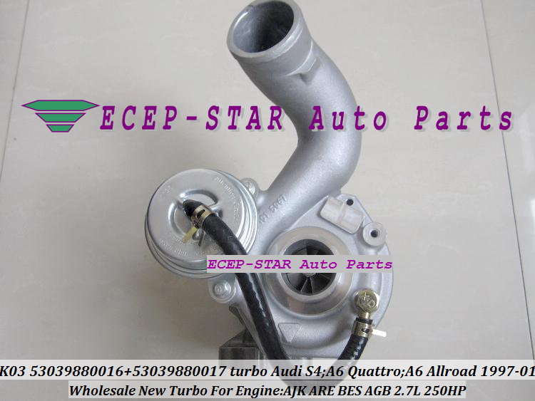 K03 53039880016 53039880017 Turbo Turbocharger for Audi S4 A6 Quattro A6 Allroad 1997-01 AJK ARE BES AGB 2.7L 250HP (1)