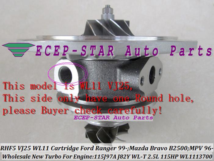 RHF5 VJ25 VB430012 WL1113700 Turbo CHRA Cartridge Turbocharger Core FORD Ranger MAZDA Bravo B2500 MPV 115J97A J82Y WL-T 2.5L 109HP 115HP (4)