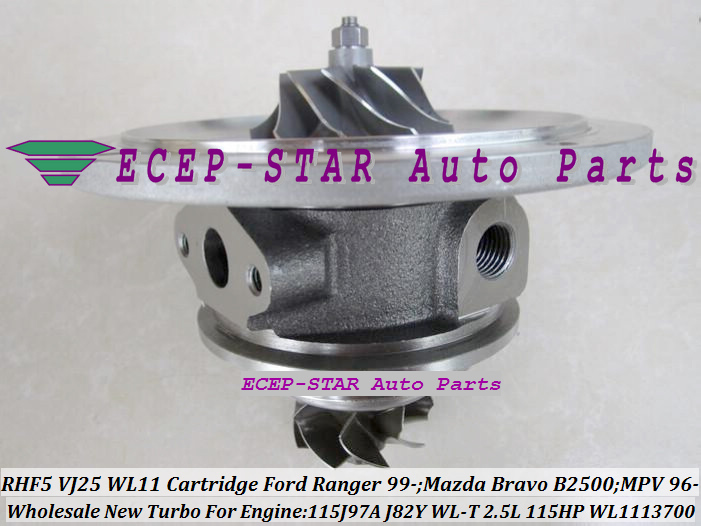 RHF5 VJ25 WL11 VB430012 WL1113700 Turbo CHRA Cartridge Turbocharger Core FORD Ranger MAZDA Bravo B2500 MPV 115J97A J82Y WL-T 2.5L 109HP 115HP (1)